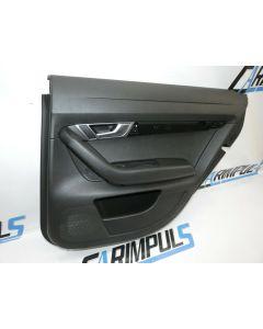 Orig Audi A6 4F Türverkleidung hinten rechts Leder schwarz Türpappe 4F0867306D 5