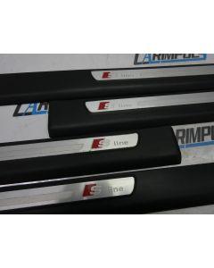 Orig. Audi A6 4F Einstiegsleisten S LINE Abdeckung Türleisten 4F0853375E CC534